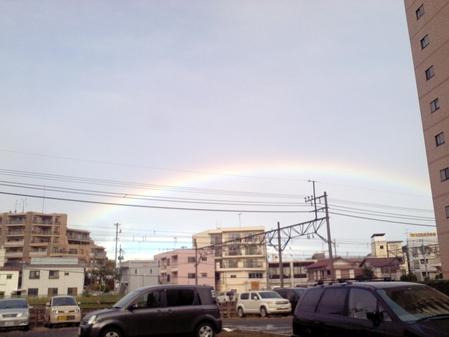 先週、台風一過の朝です。(変換後))