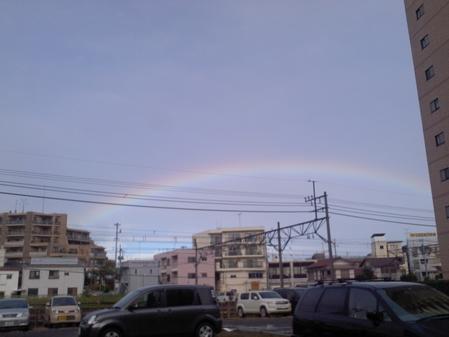 先週、台風一過の朝です。(変換前)