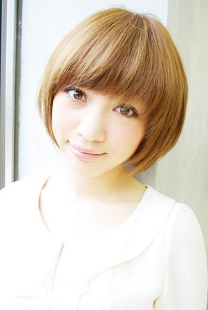 篠田麻里子さん風☆小顔になるショートボブ(変換前)