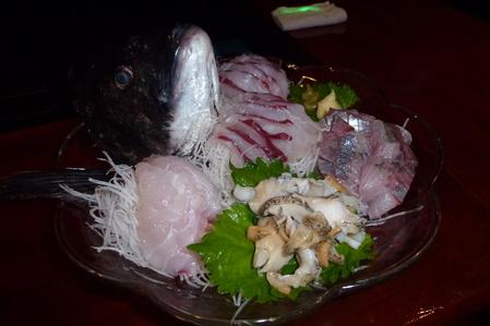 釣れた魚で酒の肴を・・・(変換前)