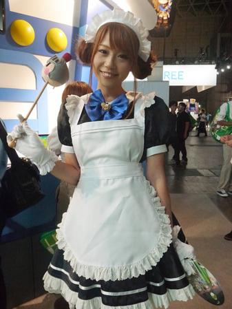 東京ゲームショー2012 GREEコンパニオンメイド服(変換前)