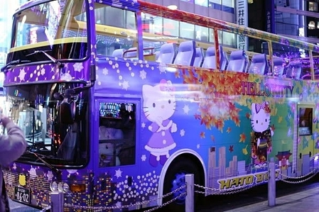 Hello Kitty Christmas Bus♡  東京はとバス♡(変換後))